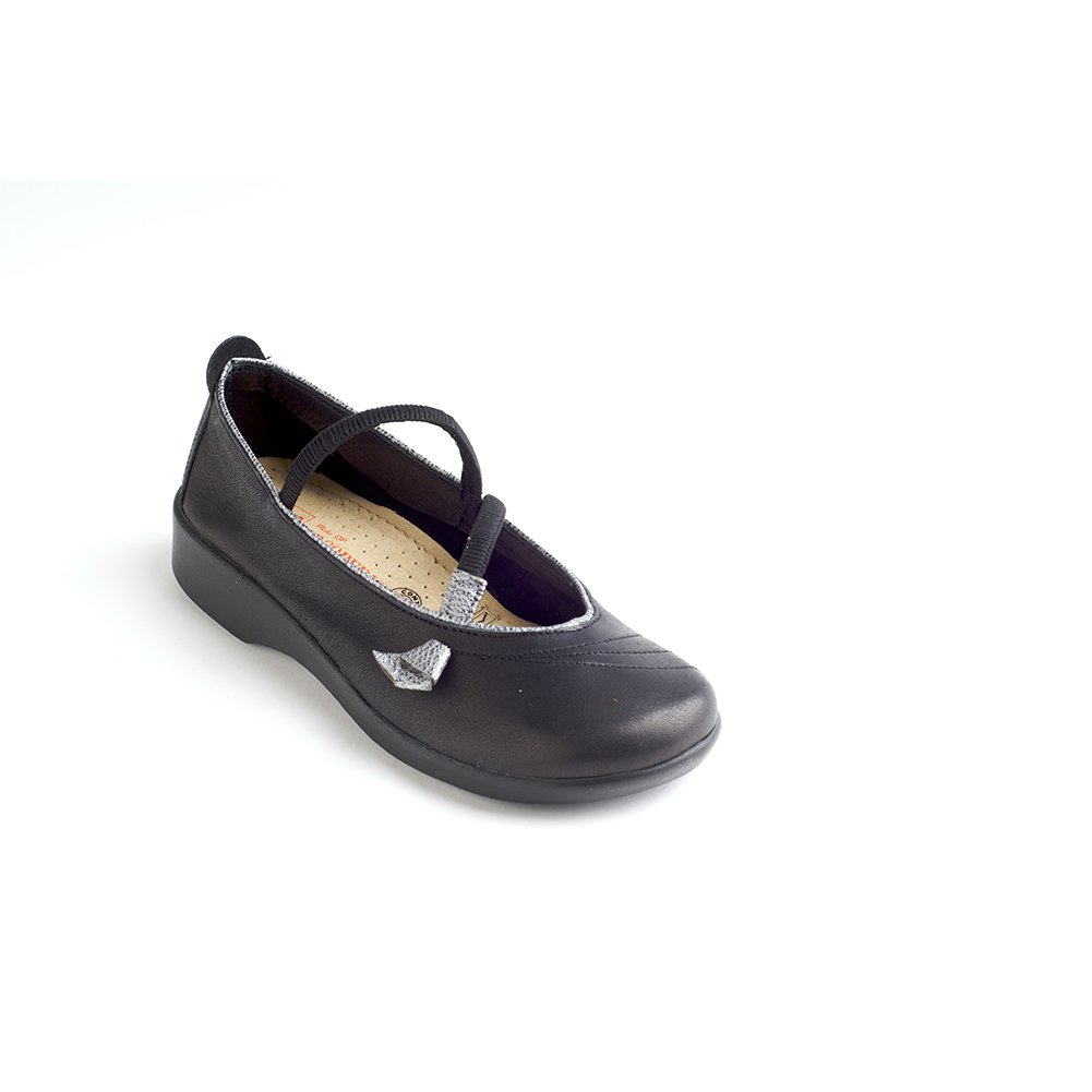 Arcopedico 6201 Vitoria Womens Mary Jane Flats B01M1B7URK 43 EU|Black/Pewter