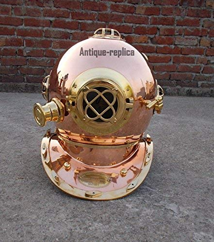"classical.gift.export Solid Brass Diving Divers Helmet Scuba Vintage US Navy Mark IV Full Size 18"" BCS"