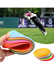 Dog Frisbee Disc Toy, Silicone Pet Dog Frisbee, Dog Toy Frisbee, Dog Frisbee Training Toys, Silicone Flying Frisbee Disc, Flying Disc Training Toy, Pet Fetch Toy, Training Outdoor and Indoor 6 Colors