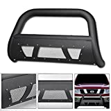nissan xterra bull bar - VXMOTOR 2005-2017 Nissan Frontier ; 2005-2007 Pathfinder ; 2005-2015 Xterra Matte Black Studded Mesh Bull Bar Brush Push Front Bumper Grill Grille Guard With Skid Plate