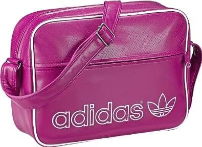 adidas AC Airline - Bolsa de acampada y senderismo, tamaño 38 x 12 x 28 cm, color power rosa / blanco