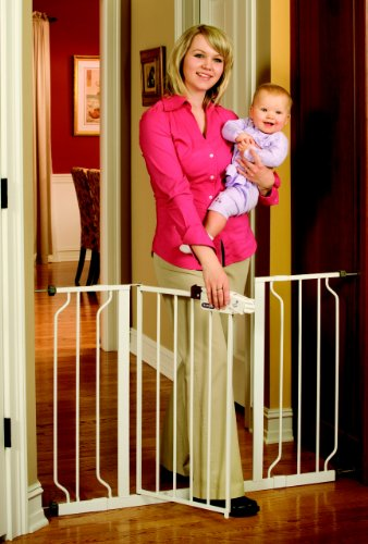 : Regalo Easy Step Extra Wide Walk Thru Gate, 29-44 Inches Wide, White