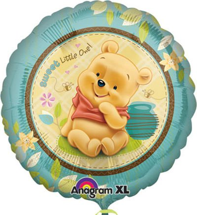 0390 Pooh Sweet Little One Foil Balloon by Mayflower Products (Pooh Foil Balloon)