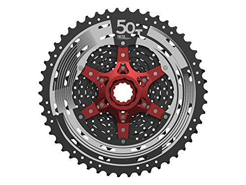 Sunrace 12-speed 11-50T cassette freewheel CSMZ90 WA5 wide ratio MTB in Black with RD extender by JGbike (Image #3)