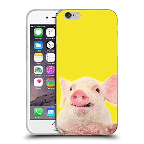 GoGoMobile Coque de Protection TPU Silicone Case pour // Q05730625 Cochon mignon Giallo canarino // Apple iPhone 7