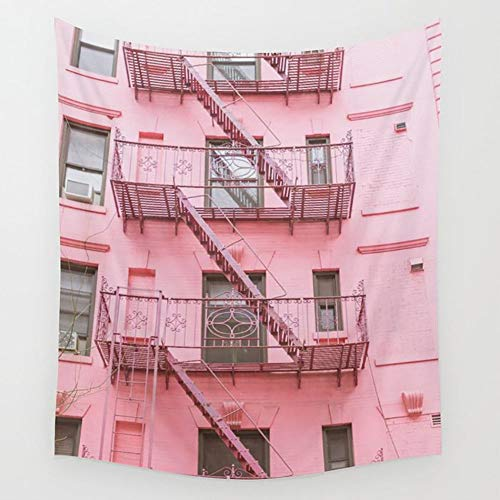 Ameiu-Design Pink Soho NYC Wall Tapestry Hanging Tapestries Wall Art for Living Room Bedroom Dorm Decor 80X60 inches