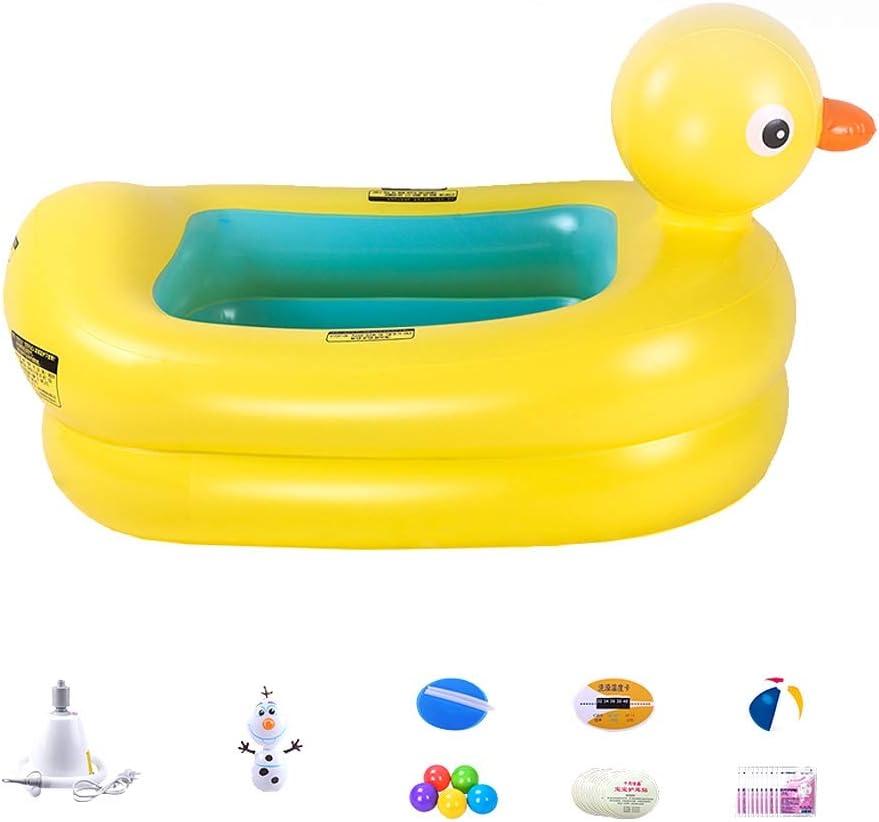B07S2HFZ6F GYF Inflatable Baby Bathtub Baby Bath Tub Toddler Bathtub,Baby Tub Infant Inflatable Tub Baby Folding Tub Children Swimming Pool Yellow 111X70X64CM (Size : B) 5102B2B47ugoL