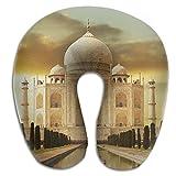 Owen Pullman Travel Pillow Taj Mahal India Memory Foam Neck Pillow Comfortable U Shaped Neck Support Plane Pillow