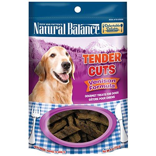 Natural Balance Delectable Delights Tender Cuts Dog Treats, Venison Formula, 4-Ounce