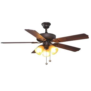 Hampton Bay Brookhurst 52 Ceiling Fan 549742 Oil Rubbed Bronze