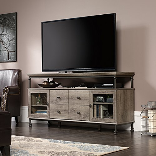 Canal Street Entertainment Credenza 60''W Northern Oak by Sauder