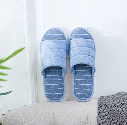 Indoor xsby Slippers Blue Home Men Soft a Bedroom and Women Flip House Comfort Flops TUwIT