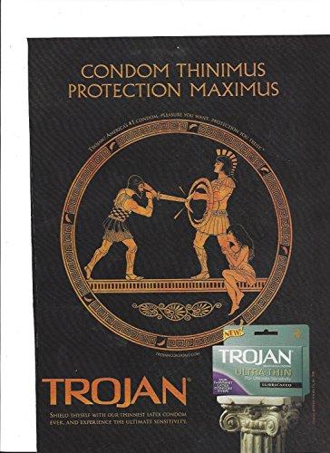 PRINT AD For 2006 Trojan Ultra Thin Condoms Protection Maximus Gladiator ScenePRINT AD