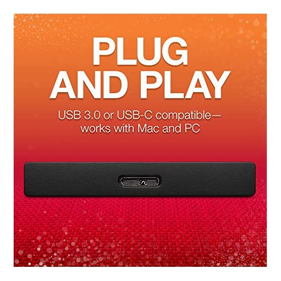 Seagate Backup Plus Ultra Touch 2TB External Hard Drive Portable HDD – Black USB-C USB 3.0, 1yr Mylio Create, 2 months… 510%2B ZB%2B8yL. SS555