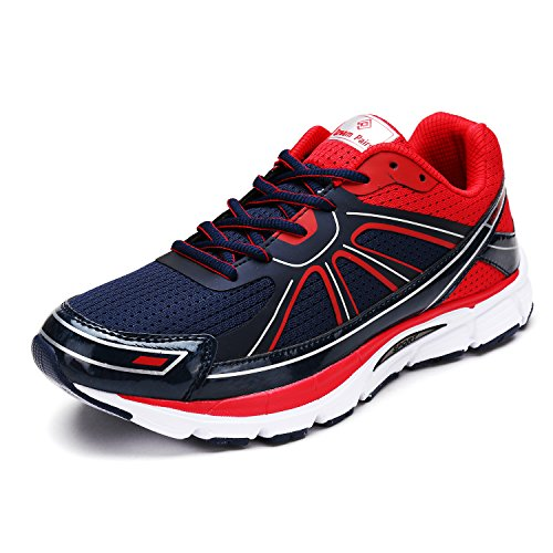 DREAM PAIRS Men's 160318-M Navy Red Silver Running Shoes Sneakers - 7.5 M US