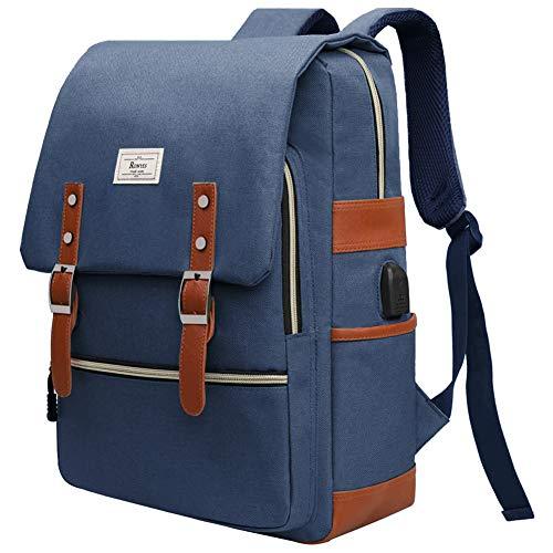 Ronyes Unisex College Bag Bookbag Fits up to 15.6'' Laptop Casual Rucksack School Backpack Daypacks (Blue)