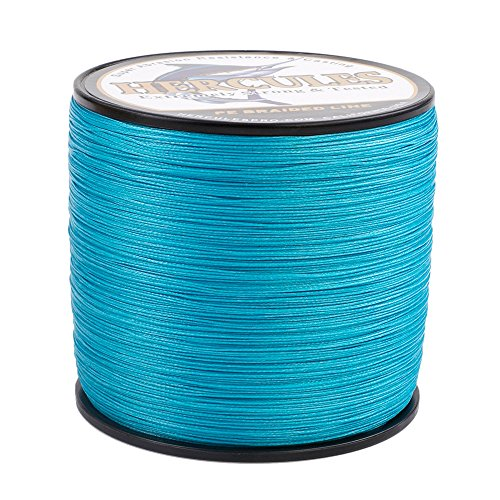 HERCULES Super Cast 1000M 1094 Yards Braided Fishing Line 15 LB Test for Saltwater Freshwater PE Braid Fish Lines Superline 8 Strands - Blue, 15LB (6.8KG), 0.16MM ()