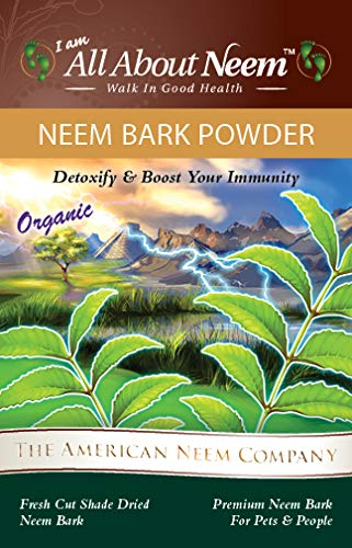 Neem Bark Powder, 5 LB Bulk, Organic, Fresh Cut, Slow Dried Under Shade - For Dental & Digestion Support - Supports Healthy Gums, Teeth, Skin & Digestive Tract - For Dogs, Cats and People! Made in USA by All About Neem (Image #2)