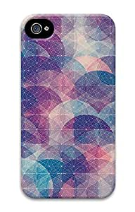 iPhone 4 4S Case Abstract Circles Connected Dots Pattern 3D Custom iPhone 4 4S Case Cover