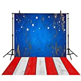 Funnytree 5x7ft photography backdrops wooden floor Patriotic American Flag 4th of July independence Day banner photo studio booth newborn baby shower background photocall