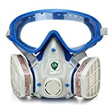 (Ship from US)Silicone Full Face Respirator Gas Mask Goggles Comprehensive Cover Dustproof
