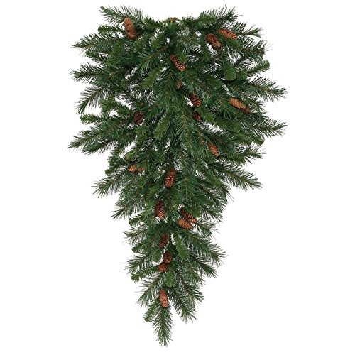 Vickerman 42'' Cheyenne Pine Artificial Christmas Teardrop Swag with Pine Cones - Unlit by Vickerman (Image #1)