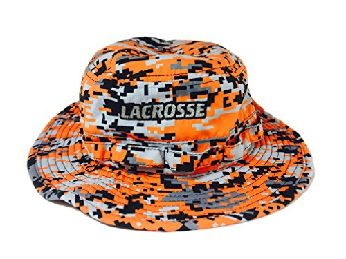 Lacrosse Digital Camo One Size Lax Bucket Hat 100% Polyester, soft and light feel (Orange)