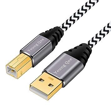 Cable de Impresora, Yeung Qee de Alta Velocidad USB 2.0 A Macho a ...
