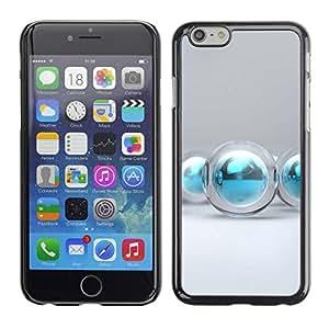 PC/Aluminum Funda Carcasa protectora para Apple Iphone 6 Plus 5.5 aqua water winter Christmas decoration / JUSTGO PHONE PROTECTOR