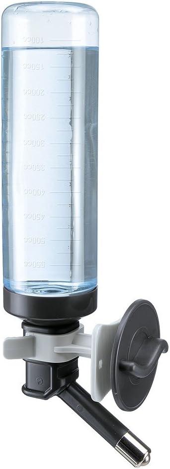 Ferplast Bebedero universal para transportines de perros DRINKY DOG Dispensador de 0,6 litros de agua para perros, Robusto plástico atóxico y reciclable, Escala graduada externa, 7 x 11 x h 31 cm