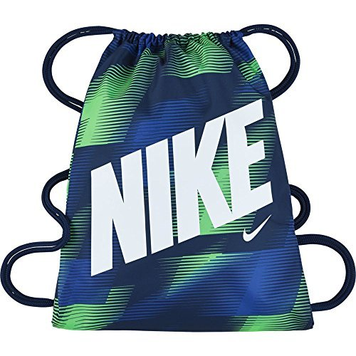 New Nike Young Athletes Graphic Gymsack (One Size, Obsidian (429) / Blue/Malahit/White)