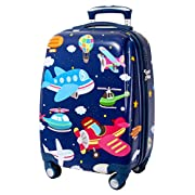 GURHODVO Kids Carry On Luggage for Boys Children Rolling Suitcase with 4 Spinner Wheels Hardshell Case for Toddler to…