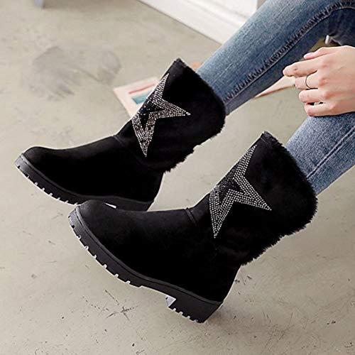 Pull Winter On Black Women Soft Melady Casual Boots qUSCXw