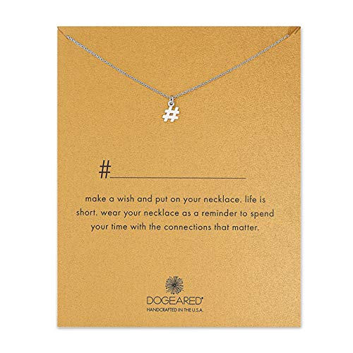 LANG XUAN Message Card Heart Pendant Necklace Friendship Butterfly Silver Luck Cross Necklace Chain Pendant with Gift Card (Meaning #)