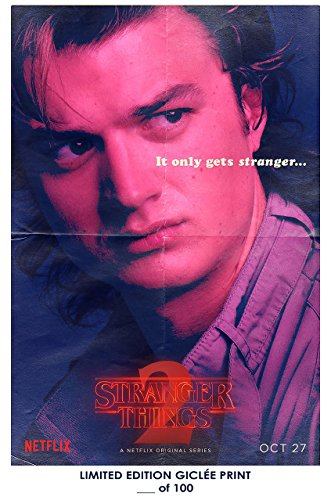 RARE POSTER thick steve harrington STRANGER THINGS 2 joe keery tv REPRINT #'d/100!! 12x18