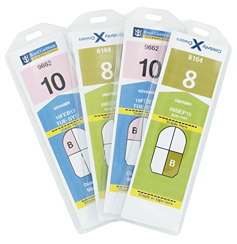 Shiptags, Cruise Luggage Tags Holders NARROW for Royal Caribbean & Celebrity Cruise Ships (8 Luggage Tags) (Ships Royal Caribbean Cruise)