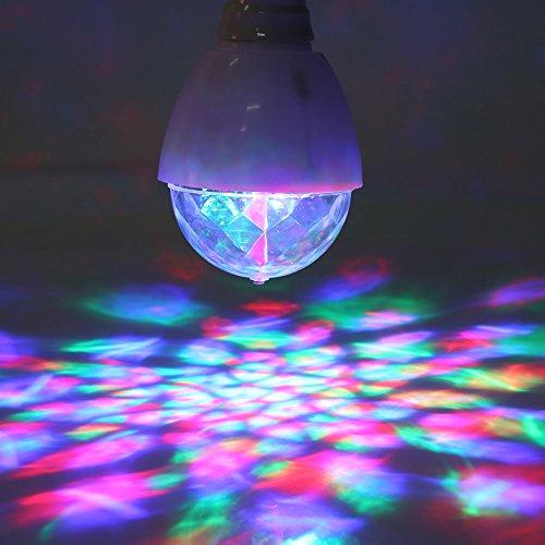 (2Pcs DJ Stage Lights Bulbs Lamps Colorful Rotary Dance Lamp LED Disco Ball Lights for Hallowmas Halloween Christmas Wedding)