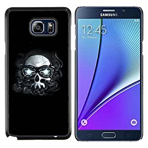 TECHCASE---Cubierta de la caja de protección para la piel dura ** Samsung Galaxy Note 5 ** --Hipster Cráneo con los vidrios