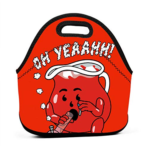 ASCLKJZX Kool-Aid Man Neoprene Lunch Bag, Durable Lunch Tote for Outdoor Travel Work School -