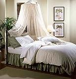 Nicamaka Bali 1-Point Bed Canopy, Poly-Cotton Gauze Net