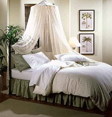 Image Unavailable & Amazon.com: Nicamaka Bali 1-Point Bed Canopy Poly-Cotton Gauze Net ...
