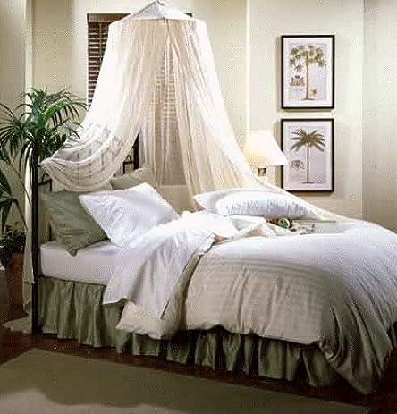 Nicamaka Bali 1-Point Bed Canopy Poly-Cotton Gauze Net & Amazon.com: Nicamaka Bali 1-Point Bed Canopy Poly-Cotton Gauze ...