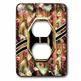 Charlyn Woodruff - CW Designs Monogram Camouflage - Elegant Pink Camouflage Monogram Letter D Faux Gold Wood Grain Image - Light Switch Covers - 2 plug outlet cover (lsp_242359_6)