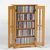 Cheap Leslie Dame M-190 Wall Mounted Mission Style Media Storage Cabinet, Oak