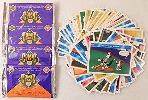 looney-tunes-comic-ball-series-2-trading-card-packs-4-count-50-loose-series-1-3-cards