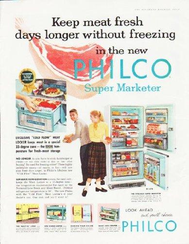 Photo 1957 Philco Refrigerator Ad