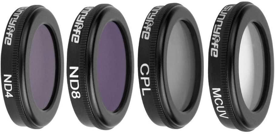 ND4//PL+ND8//PL+ND16//PL+ND32//PL for DJI Osmo Action Optical Glass Protection Filter Accessories Meijunter 4 Pcs Lens Filters