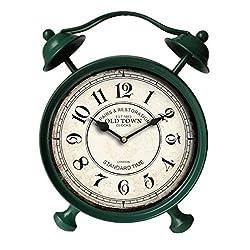 13.5 in. Table Clock in Sea Green