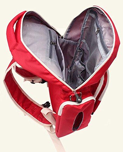 Keshi Nylon Cool Schulrucksäcke/Rucksack Damen/Mädchen Vintage Schule Rucksäcke mit Moderner Streifen für Teens Jungen Studenten Rot N1403kGR2e