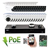 GW Security 32CH 5 Megapixel 1920P Video Home Security Camera System, 16pcs HD 1920p 5MP Outdoor Bullet & 16pcs Dome IP Camera ,80-120ft Night Vision, 330ft Transmit Range, 8TB HDD Review